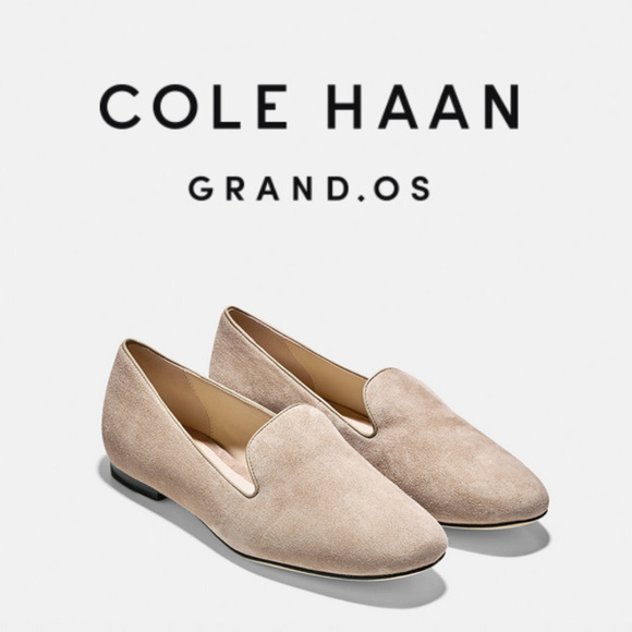 c796a1f921f NWOB Cole Haan Deacon Suede Loafers Nude Tan 6.5